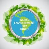 Concept de jour d'environnement du monde Illustration de vecteur Photographie stock