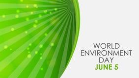 Concept de jour d'environnement du monde Illustration de vecteur Image stock