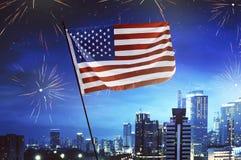 Concept de Jour de la Déclaration d'Indépendance Images stock