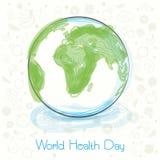Concept de jour de santé du monde avec le globe Photos libres de droits