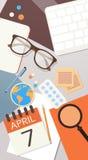 Concept de jour de santé du monde de médecin Workplace Top View Photographie stock libre de droits