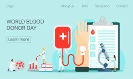 Concept de jour de donneur de sang du monde illustration de vecteur