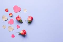 Concept de jour du ` s de Valentine avec la moquerie de fond de coeur  Image libre de droits
