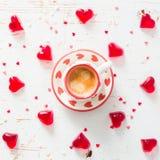 Concept de jour du ` s de Valentine - bonbons en forme de coeur Photo stock