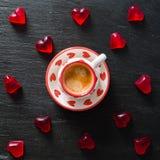 Concept de jour du ` s de Valentine - bonbons en forme de coeur Image stock