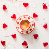 Concept de jour du ` s de Valentine - bonbons en forme de coeur Images libres de droits