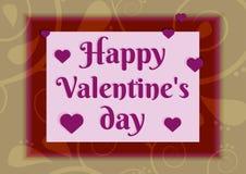 Concept de jour du ` s de Valentine Illustration de vecteur Photos stock