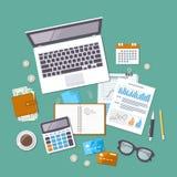 Concept de journalisation Jour d'impôts Analyse financière, paiement d'impôts Images stock