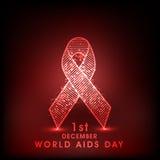 Concept de Journée mondiale contre le SIDA avec le ruban de conscience Image libre de droits