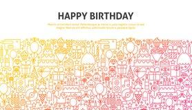 Concept de joyeux anniversaire Image libre de droits