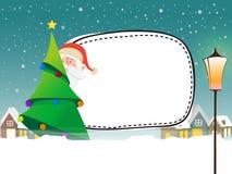 Concept de Joyeux Noël avec le père noël Photographie stock libre de droits