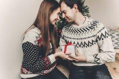 Concept de Joyeux Noël et de bonne année coup élégant de hippie Image libre de droits