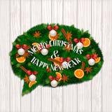Concept de Joyeux Noël et de bonne année Photographie stock libre de droits