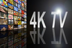 concept de 4K TV Photo libre de droits
