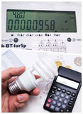 Concept de l'électricité d'économie Photos stock