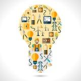 Concept de l'électricité plat Photo stock
