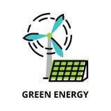 Concept de l'énergie verte, technologies d'avenir illustration de vecteur