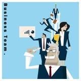 Concept de l'équipe 1 d'affaires de série d'idée d'affaires Images stock