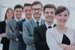 Concept de l'équipe professionnelle : une équipe réussie d'affaires stan Photo libre de droits