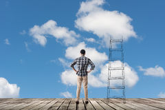 Concept de l'accès aux nuages images stock