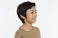Concept de l'adolescence de bonheur de sourire de garçon photographie stock libre de droits