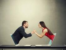 Concept de l'amour dans le réseau social Photographie stock