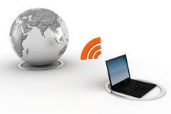 concept de l'apprentissage sur internet 3d, d'isolement sur le blanc Photographie stock libre de droits