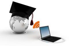 concept de l'apprentissage sur internet 3d, d'isolement sur le blanc Photos libres de droits