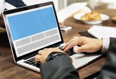 Concept de l'espace de copie de calibre de web design Images libres de droits