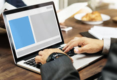 Concept de l'espace de copie de calibre de web design Photo libre de droits