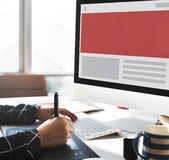 Concept de l'espace de copie de calibre de web design Photos libres de droits