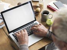 Concept de l'espace de copie de technologie d'ordinateur portable d'espace de travail photos libres de droits