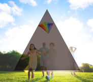 Concept de l'espace de copie de triangle d'amitié d'unité d'été Photo stock