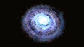 Concept de l'espace et de temps L'alarme de concept vole dans le centre de la galaxie illustration stock