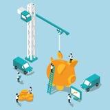 Concept de l'illustration 3D plate d'accumulation Image stock