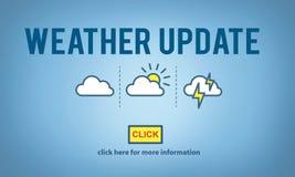 Concept de l'information d'actualités de prévision de prévision de mise à jour de temps photos libres de droits