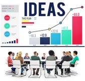 Concept de l'information d'inspiration de créativité d'innovation d'idées images stock