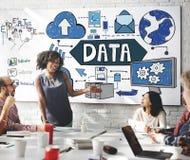 Concept de l'information de téléchargement de connexion de stockage de données Photo libre de droits