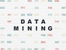 Concept de l'information : Exploitation de données sur le mur Photographie stock libre de droits