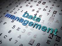 Concept de l'information :  Gestion des données sur le fond hexadécimal de code Photos libres de droits