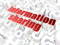 Concept de l'information : Partage d'informations sur le fond d'alphabet Photos libres de droits