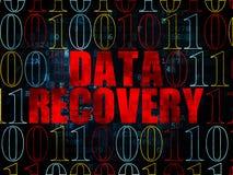 Concept de l'information : Récupération de données sur numérique Photographie stock libre de droits