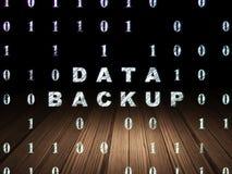 Concept de l'information : Sauvegarde des données dans l'obscurité grunge Images libres de droits
