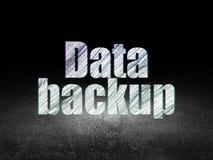 Concept de l'information : Sauvegarde des données dans l'obscurité grunge Image stock