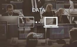 Concept de l'information système d'analyse de base de données de données images stock