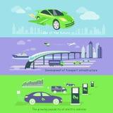Concept de l'infrastructure de transport de développement illustration de vecteur