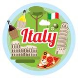Concept de l'Italie d'amour Image stock