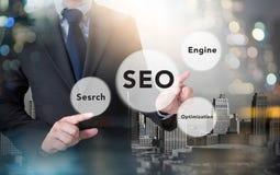 Concept de l'optimisation de moteur de recherche (SEO) Photographie stock