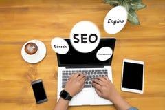 Concept de l'optimisation de moteur de recherche (SEO) Image stock
