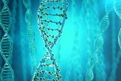 Concept de la biochimie avec la structure d'ADN sur le fond bleu concept de médecine du rendu 3d illustration stock